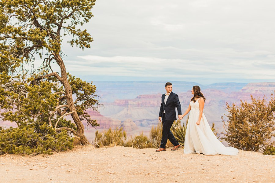 Ashlynn and Jacob: Elopement Photographers Grand Canyon intimate elopement