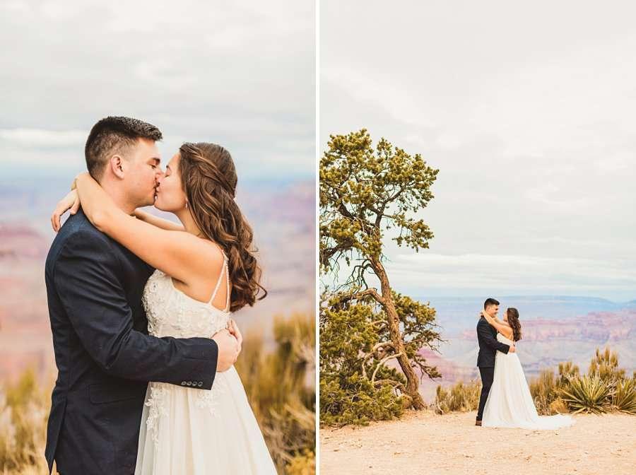 Ashlynn and Jacob: Elopement Photographers Grand Canyon intimate