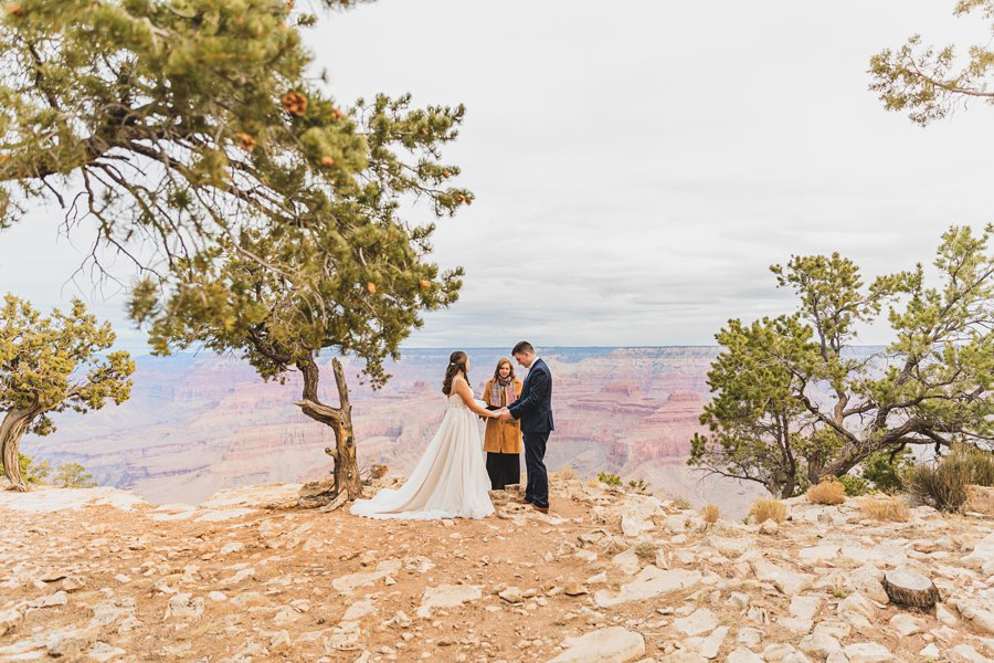 Ashlynn and Jacob: Elopement Photographers Grand Canyon the ceremony site