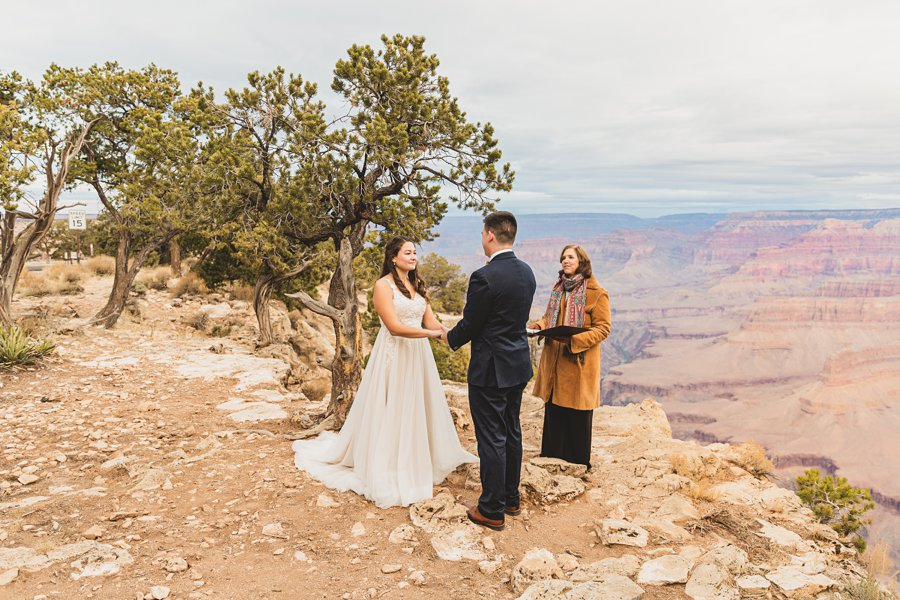 Ashlynn and Jacob: Elopement Photographers Grand Canyon the ceremony
