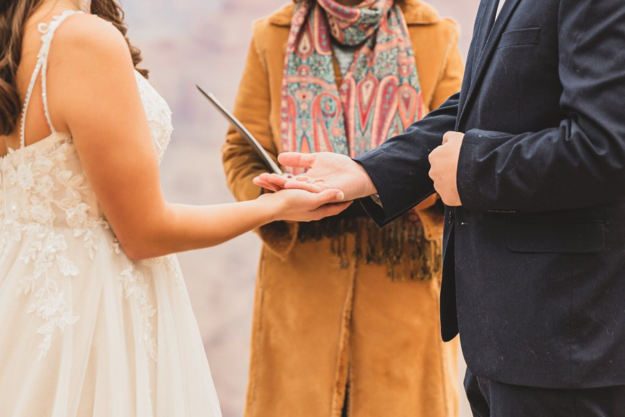 Ashlynn and Jacob: Elopement Photographers Grand Canyon the rings wedding bands