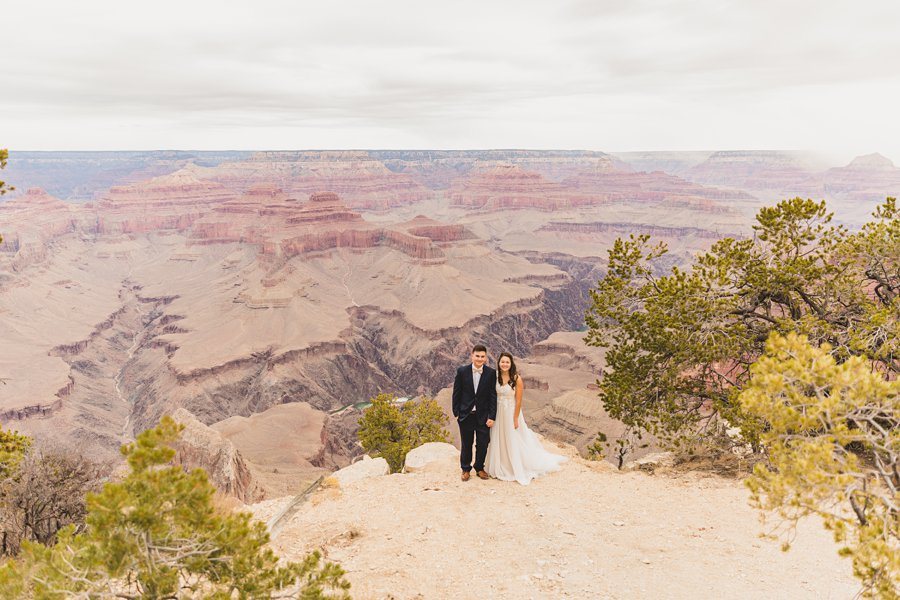Ashlynn and Jacob: Elopement Photographers Grand Canyon overview