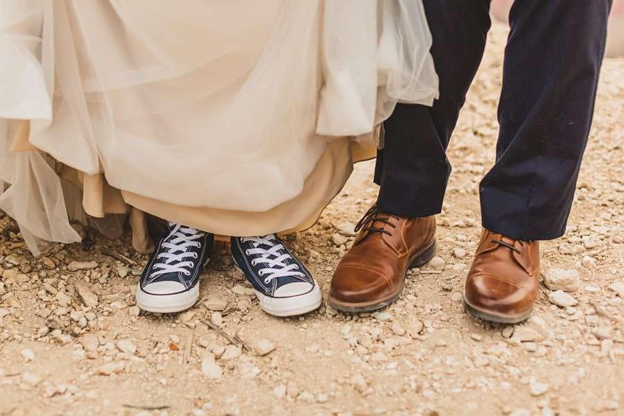 GC National Park Wedding: Ashlynn and Jacob nontraditional wedding shoes