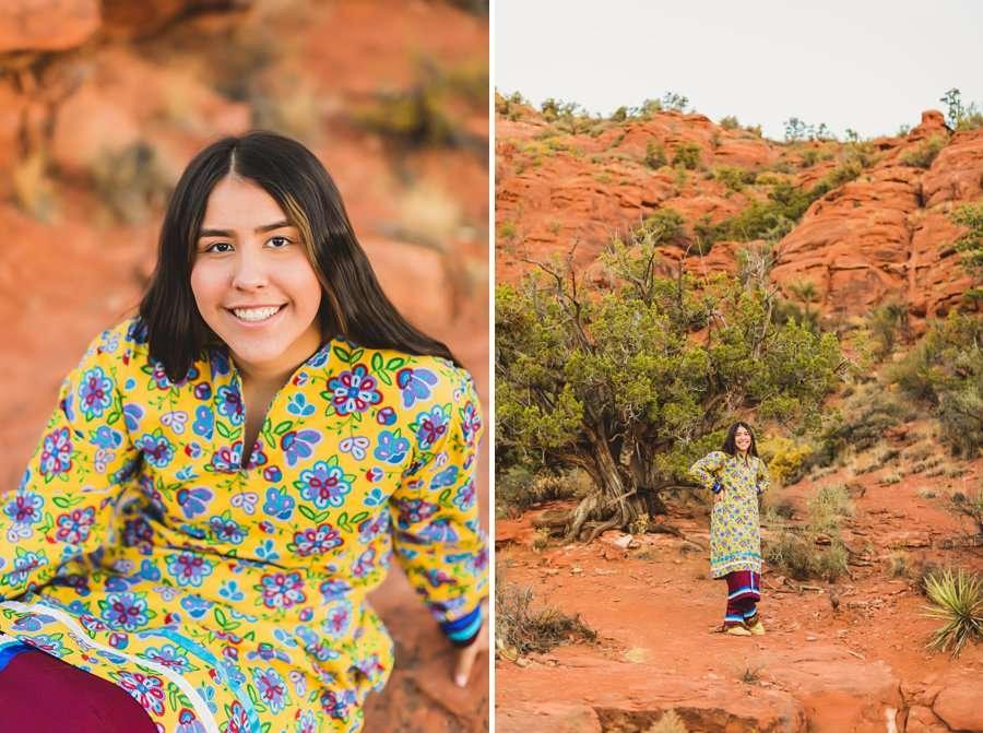 Grace: Northern Arizona Senior Photography sunset