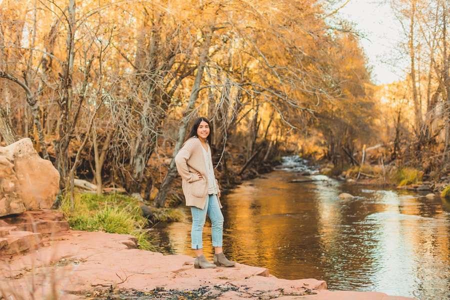 Grace: Northern Arizona Senior Photography high school creek