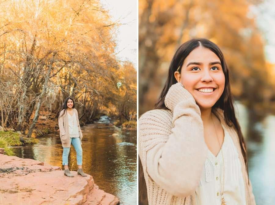 Grace: Northern Arizona Senior Photography autumn