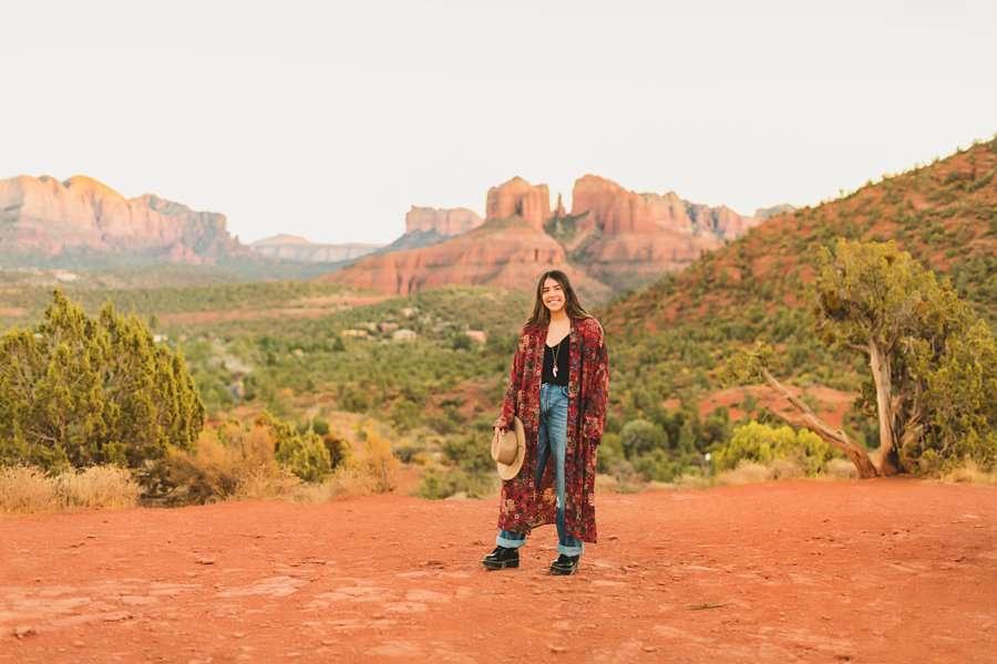 Grace: Sedona Portrait Photographers AZ overview sunset