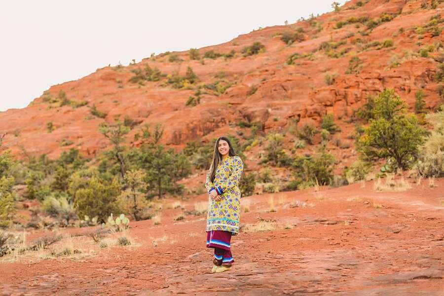 Grace: Northern Arizona Senior Photography red rocks