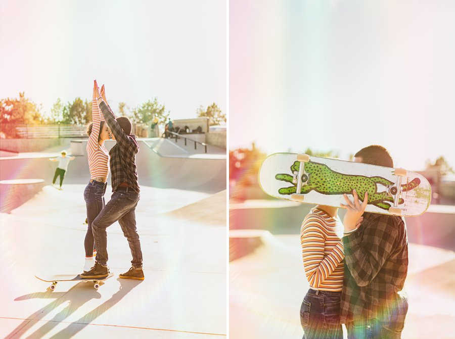 Katie and Adam: Sedona Couples Photographer skateboarding engagement