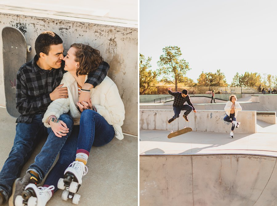 Katie and Adam: Sedona Couples Photographer snuggles