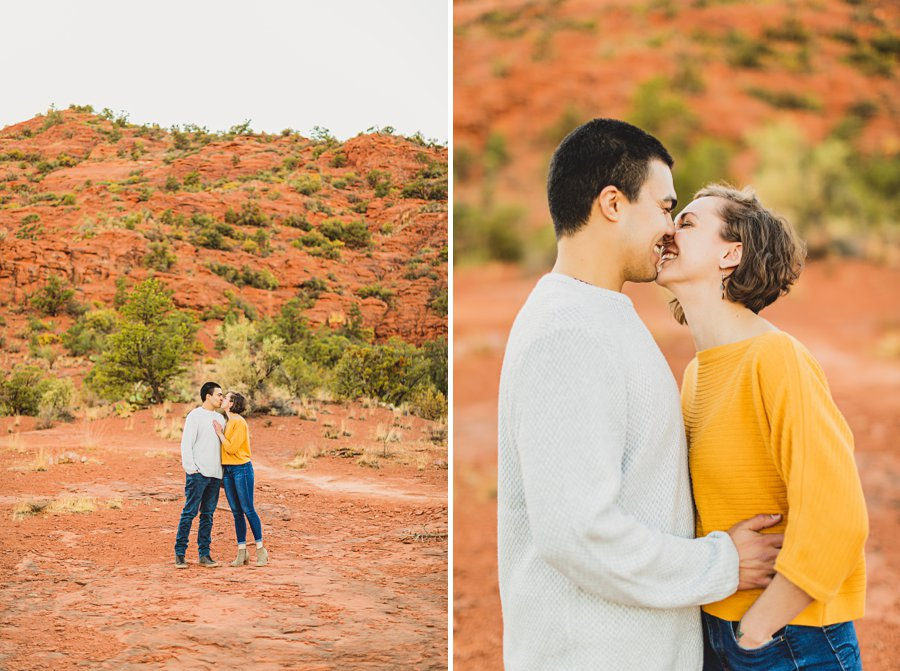 Katie and Adam: AZ Engagement Photography Sessions intimate kisses