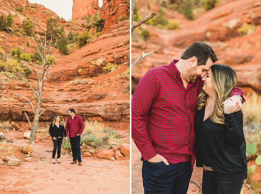 Samantha and Kevin: Cathedral Rock Sedona Engagement best places in arizona