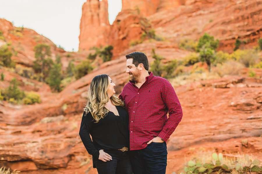 Samantha and Kevin: Cathedral Rock Sedona Engagement red rocks