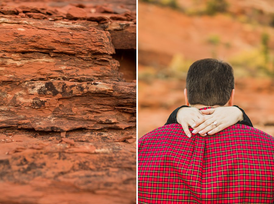 Samantha and Kevin: Cathedral Rock Sedona Engagement intimate details