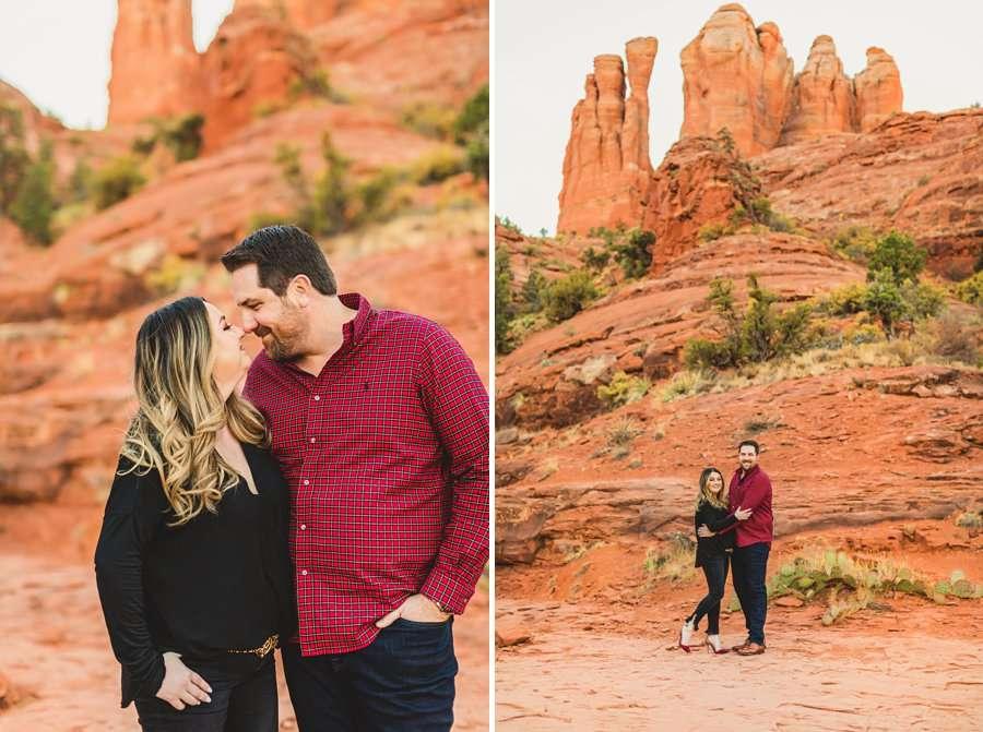 Samantha and Kevin: Cathedral Rock Sedona Engagement explore arizona