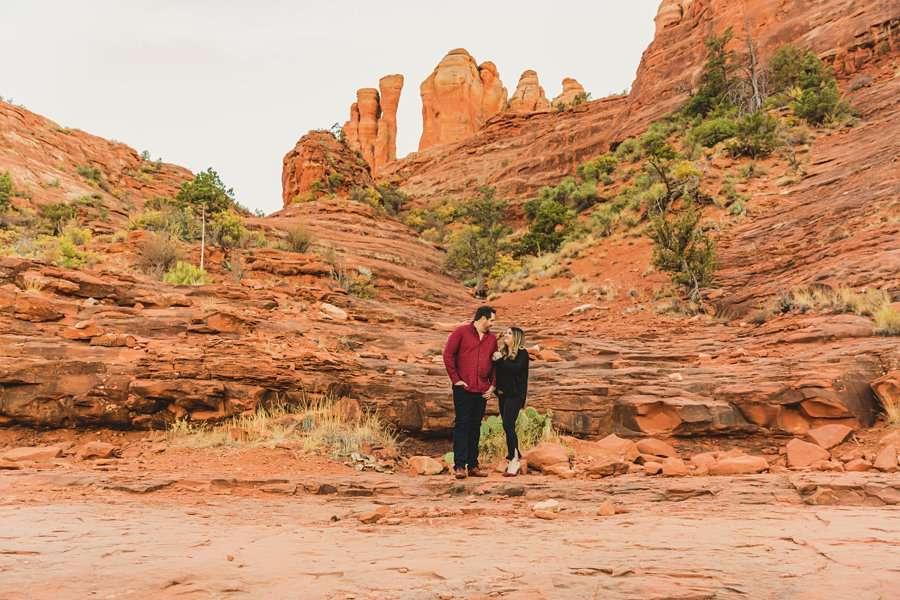 Samantha and Kevin: Sedona Arizona Portrait Photographers walking together