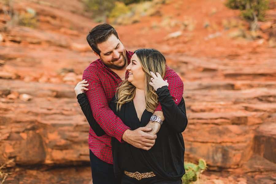 Samantha and Kevin: Sedona Arizona Portrait Photographers intimate poses