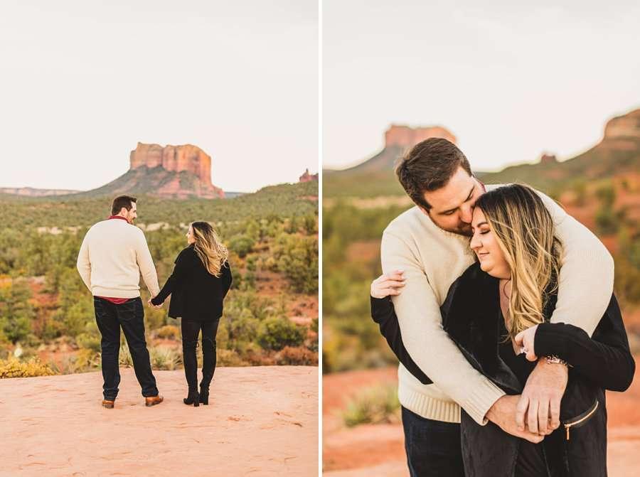 Samantha and Kevin: Sedona Arizona Portrait Photographers scenic overlook