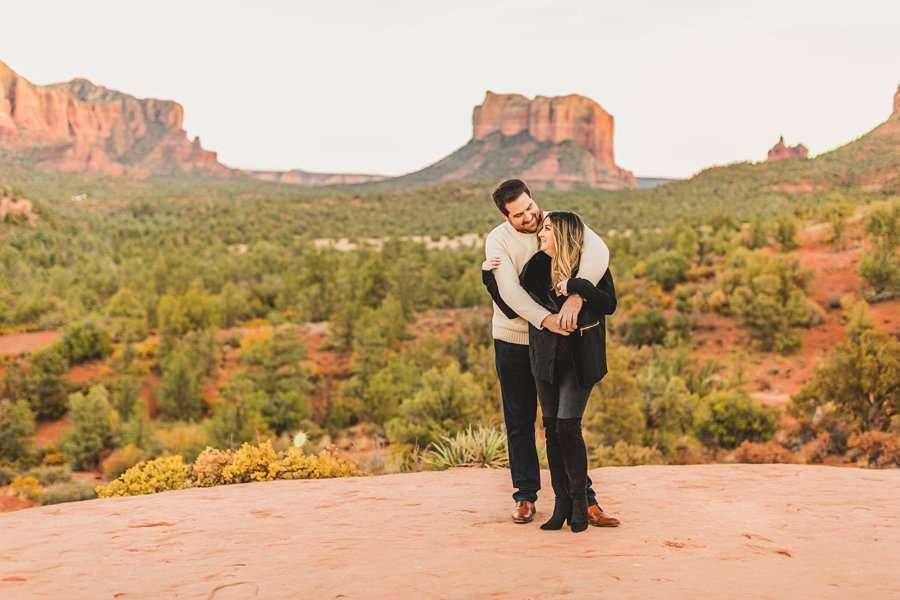 Samantha and Kevin: Sedona Arizona Portrait Photographers courthouse vista