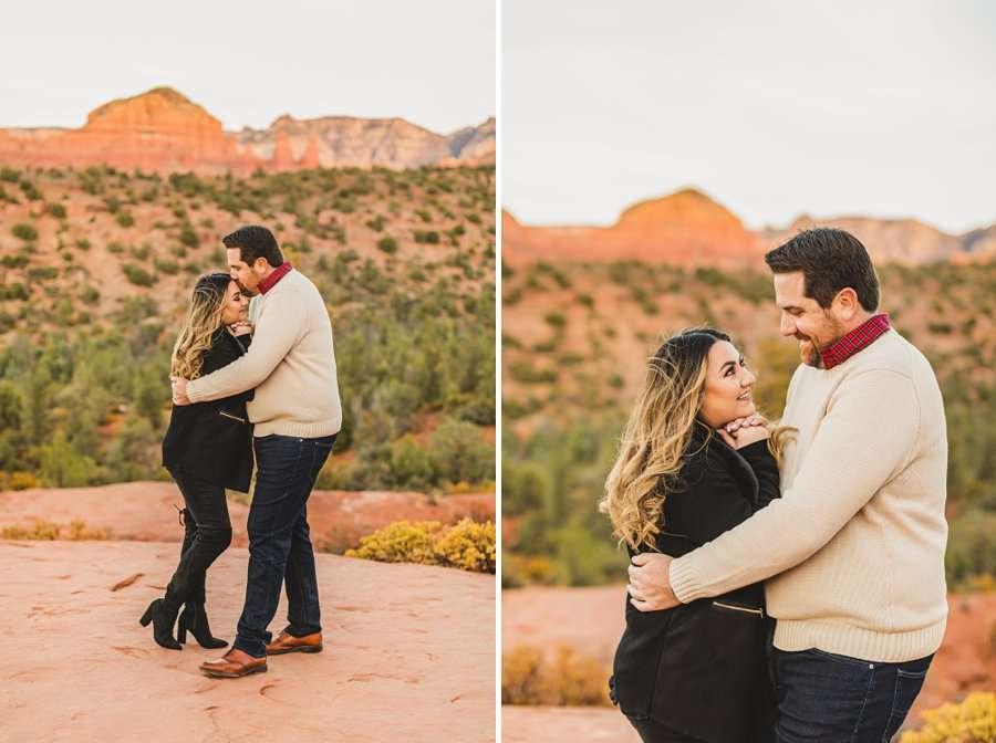 Samantha and Kevin: Sedona Arizona Portrait Photographers sunset