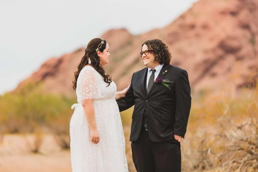 Shawna and Jason: Desert Botanical Garden Elopement his expression
