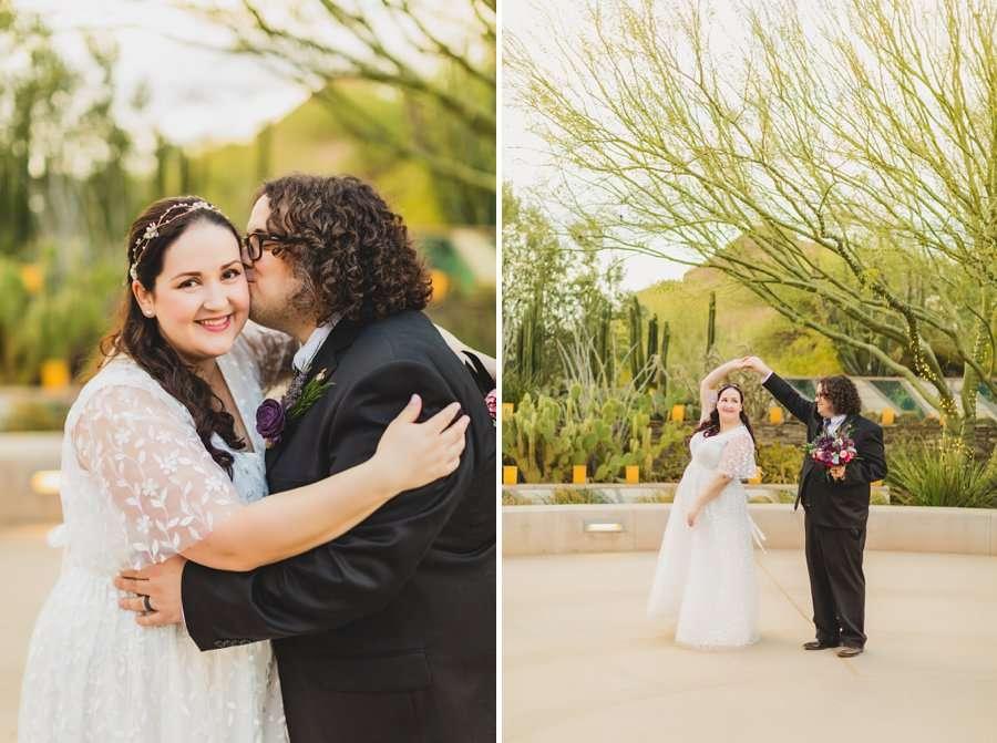 Shawna and Jason: Phoenix Arizona Wedding Photographers dancing together