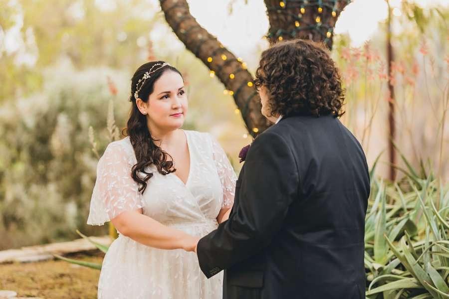 Shawna and Jason: Desert Botanical Garden Elopement intimate ceremony