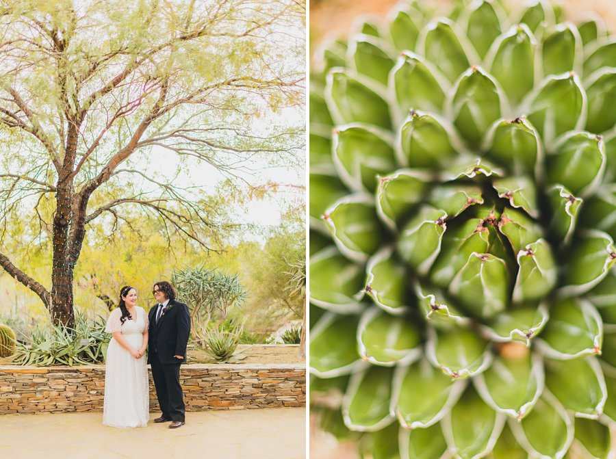 Shawna and Jason: Desert Botanical Garden Elopement the details at the ceremony
