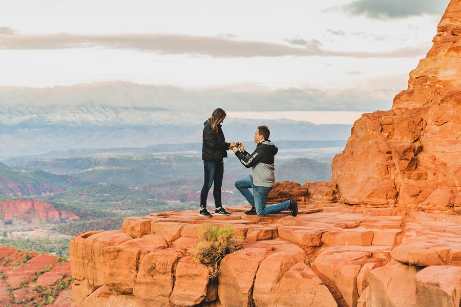 Kimber and Robb: Cathedral Rock Sedona Proposal will you marry me?