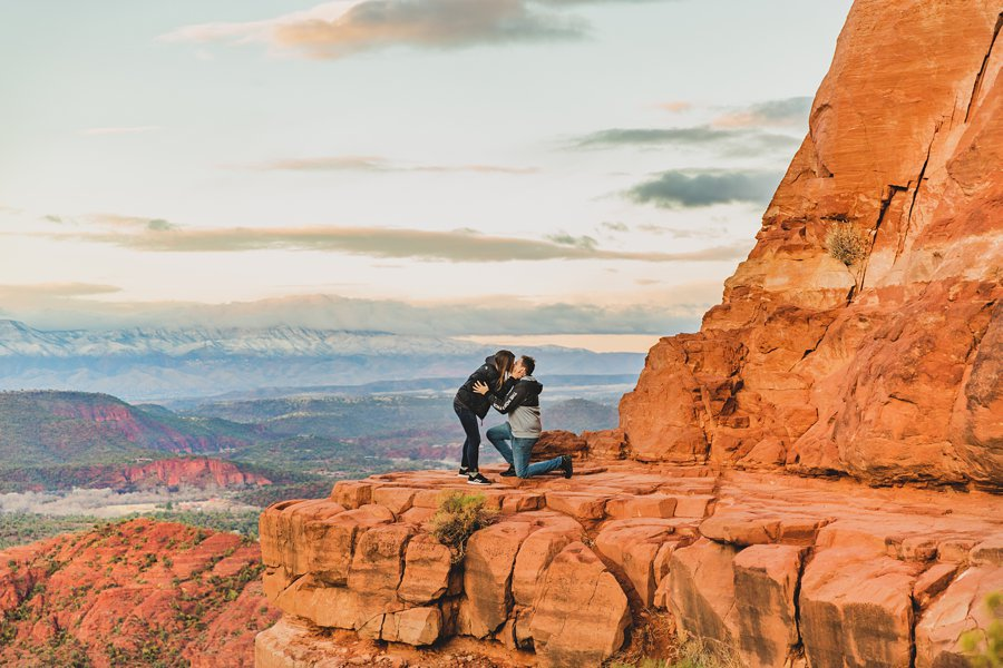Kimber and Robb: Cathedral Rock Sedona Proposal she said yes!
