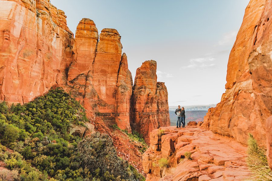 Kimber and Robb: Cathedral Rock Sedona Proposal sunrise
