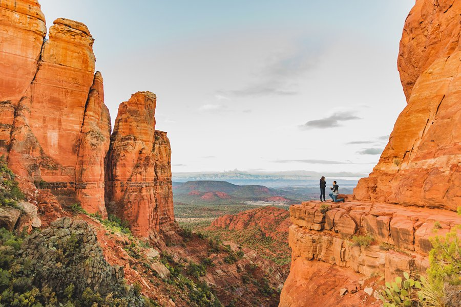 Kimber and Robb: Cathedral Rock Sedona Proposal surprise How to Plan Your Sedona Proposal