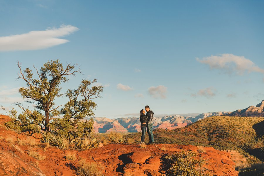 Kimber and Robb: Cathedral Rock Sedona Proposal sunrise colors