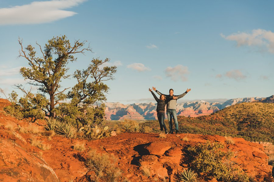 Kimber and Robb: Cathedral Rock Sedona Proposal celebration