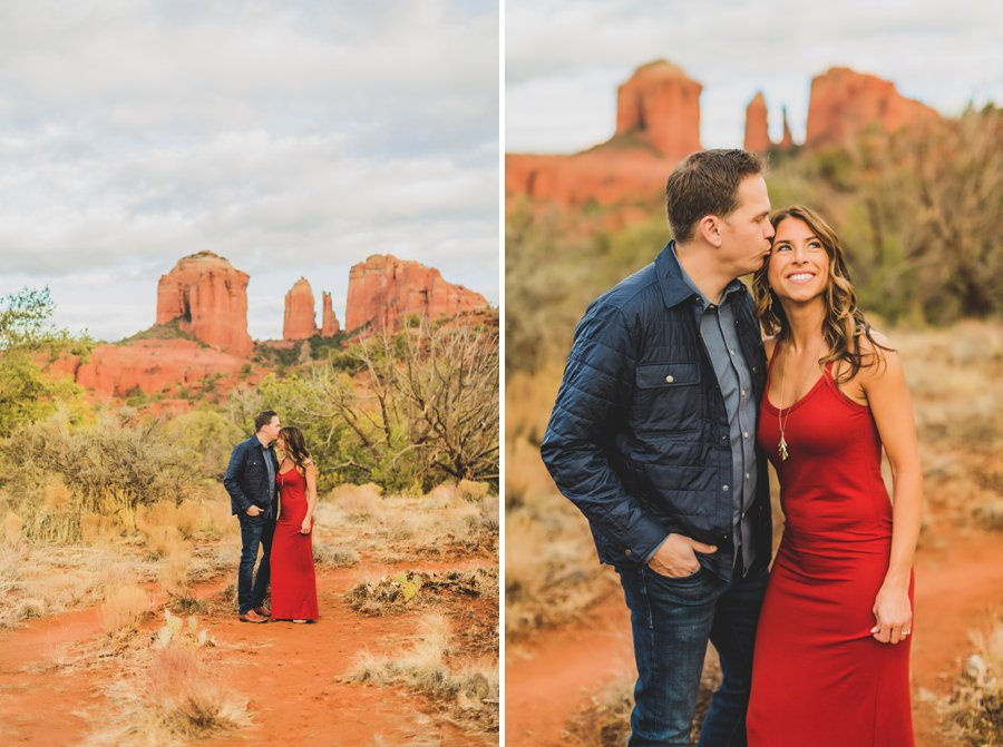 Kimber and Robb: Cathedral Rock Sedona Proposal sunset session