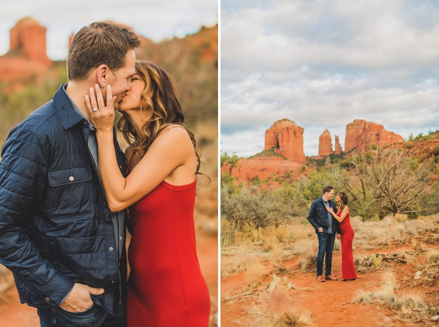 Kimber and Robb: Red Rock Arizona Portraits in love