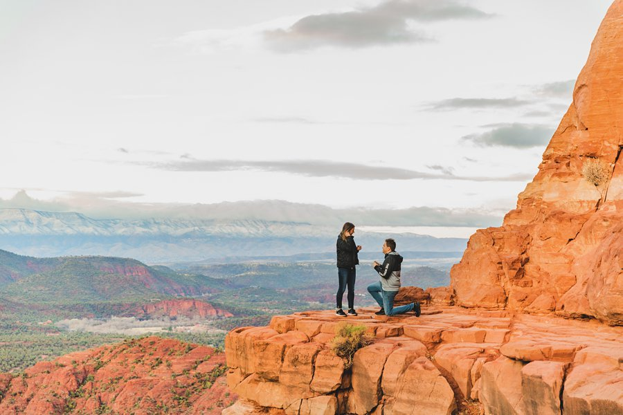 Kimber and Robb: Cathedral Rock Sedona Proposal the big question