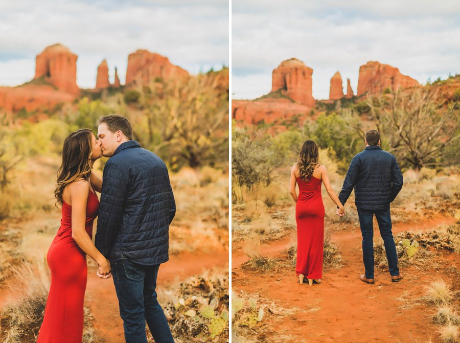 Kimber and Robb: Red Rock Arizona Portraits kisses