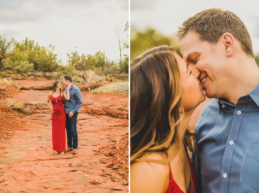 Kimber and Robb: Red Rock Arizona Portraits happiness forever