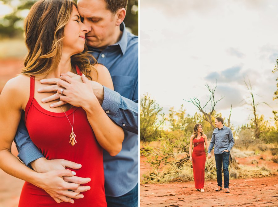 Kimber and Robb: Red Rock Arizona Portraits the engagement ring
