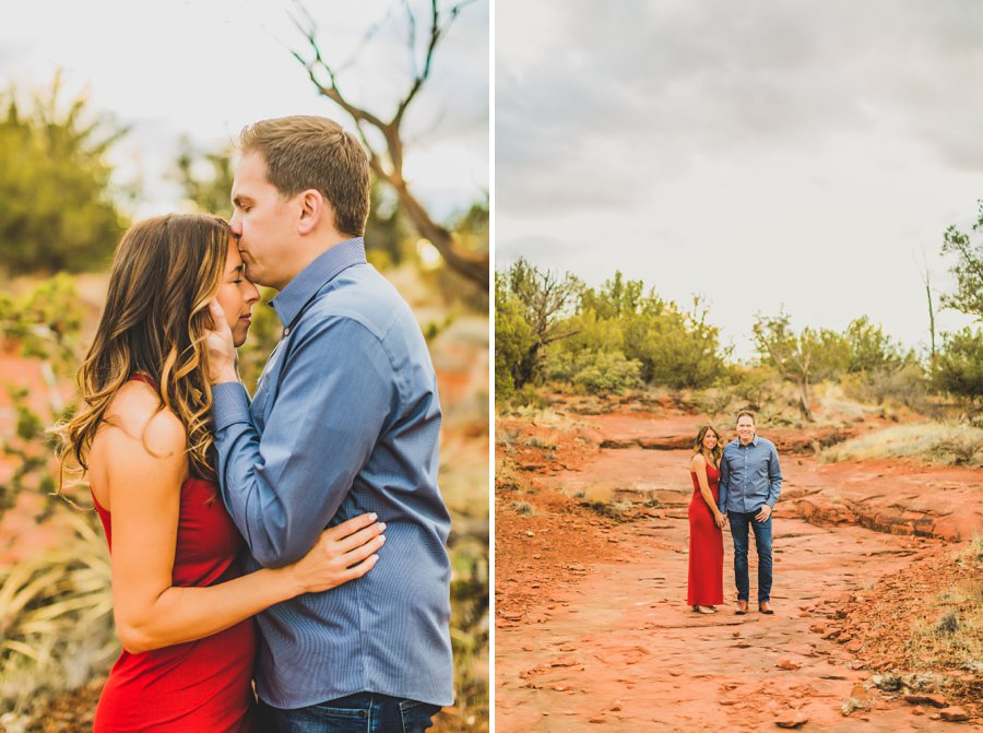 Kimber and Robb: Red Rock Arizona Portraits forehead kisses