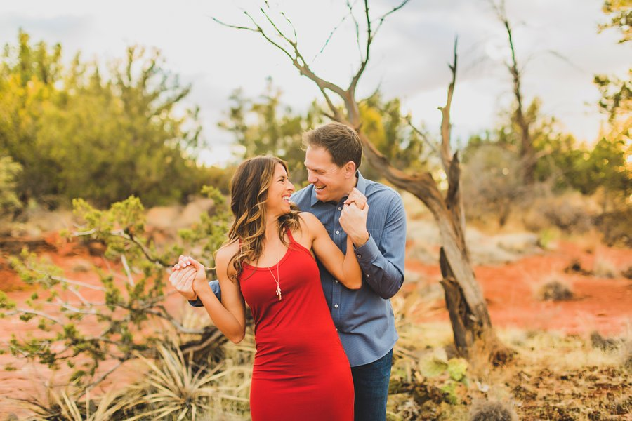 Kimber and Robb: Red Rock Arizona Portraits having fun