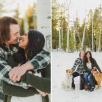 Natalie and Tanner: Flagstaff Snowy Engagement Session
