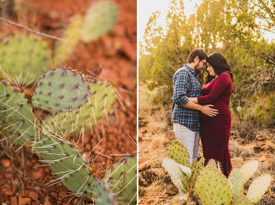 Stephanie and Mike: Cathedral Rock Maternity Photographer snuggles and kisses