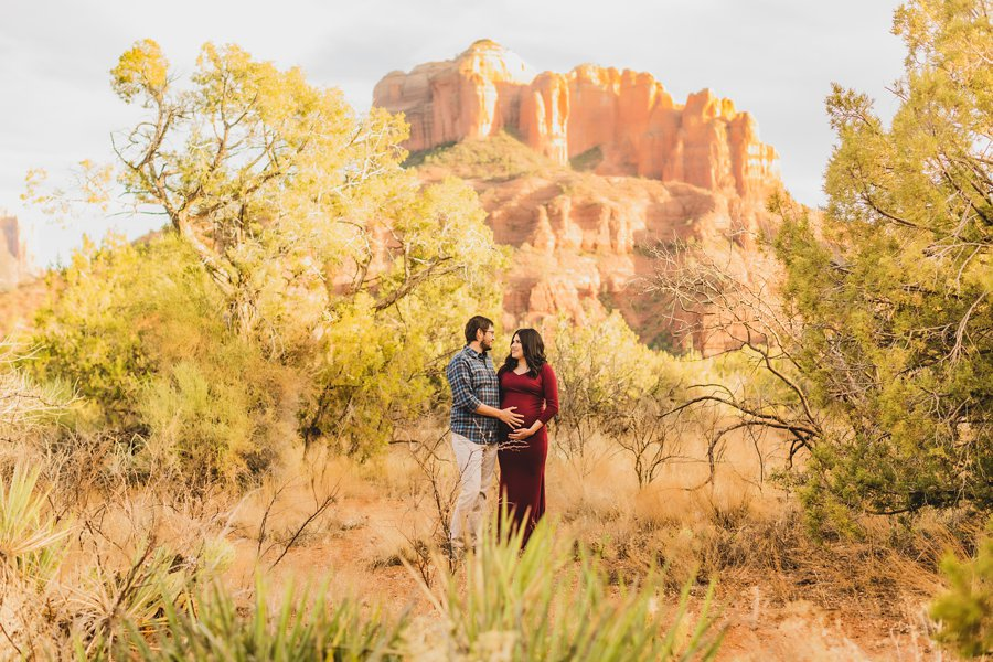 Stephanie and Mike: Cathedral Rock Maternity Photographer happiness