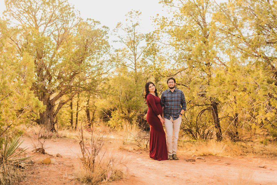 Stephanie and Mike: Cathedral Rock Maternity Photographer in the desert