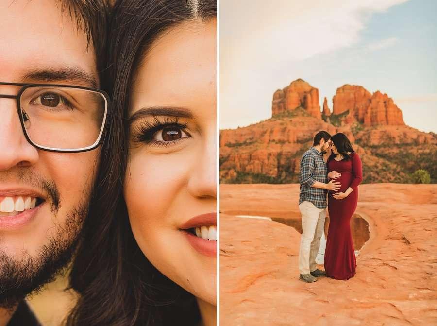 Stephanie and Mike: Sedona Arizona Family Photography face details