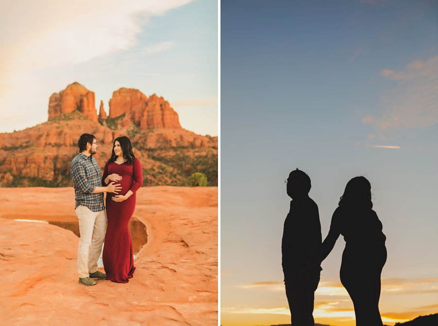 Stephanie and Mike: Sedona Arizona Family Photography sunset silhouette