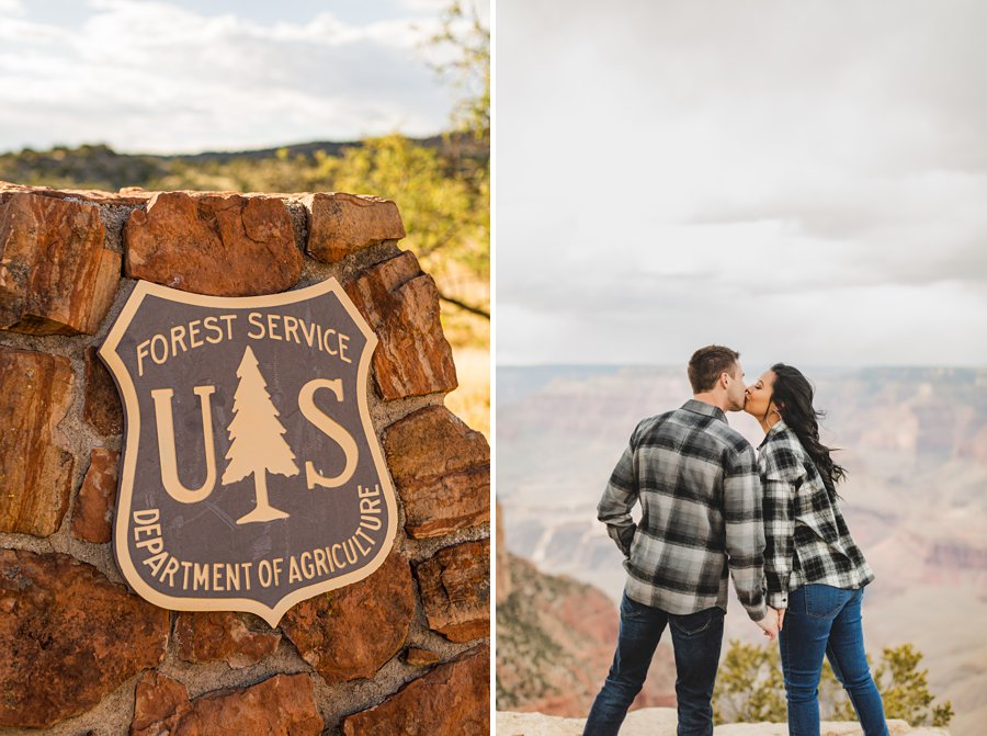 Cristina and Cody: Engagement Photographer Grand Canyon coconino national forest