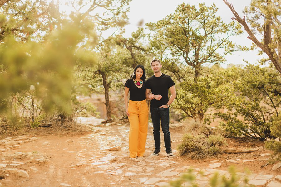 Cristina and Cody: Engagement Photographer Grand Canyon late afternoon light